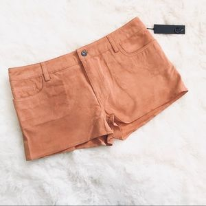 NWT • Joe's Jeans Genuine Suede Leather Tan Shorts